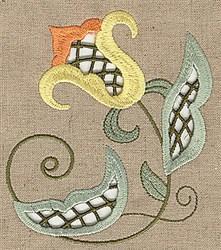 Cutwork Bud embroidery design