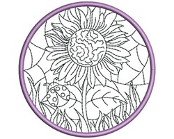Stained Glass Sun Catcher embroidery design