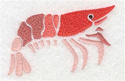 Shrimp embroidery design