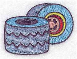 Racing Tires embroidery design