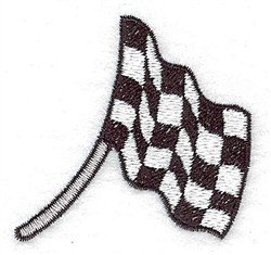 Racing Flag embroidery design