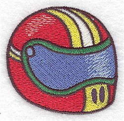 Racing Helmet embroidery design