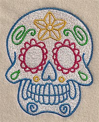 Decorative Skull embroidery design