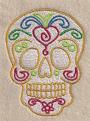 Fancy Skull embroidery design