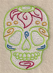 Flowered Skull embroidery design