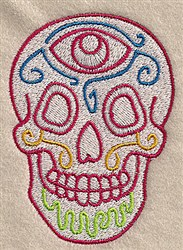 Skull Design embroidery design