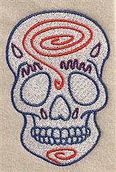 Swirl Skull embroidery design