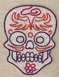 Skull Decor embroidery design