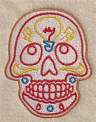 Light Bulb Skull embroidery design