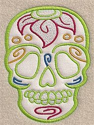 Skull Floral Applique embroidery design