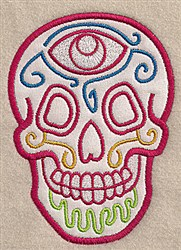 Skull Applique embroidery design