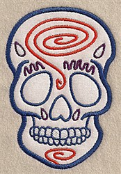 Skull Swirl Applique embroidery design