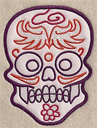 Fancy Skull Applique embroidery design