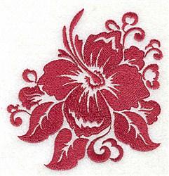 Stencil Hibiscus embroidery design