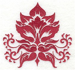One Color Floral embroidery design