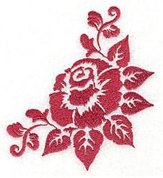 Stencil Floral Corner embroidery design