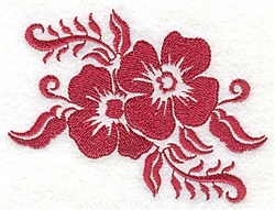 Stencil Flower Duo embroidery design