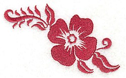 Sencil Blossom embroidery design