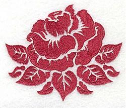 Rose Stencil embroidery design