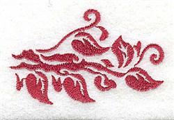 Leafy Edge embroidery design