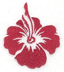 Hybiscus Blossom embroidery design