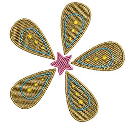 Flower & Star embroidery design