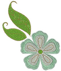 Green Flower embroidery design