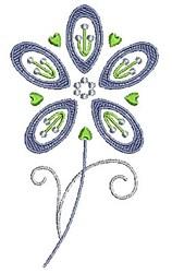 Swirly Purple Flower embroidery design