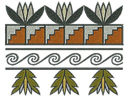 Southwestern Swirl Border embroidery design