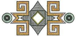 Southwestern Border embroidery design