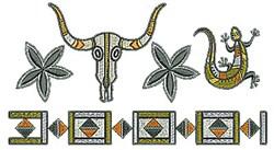 Southwestern Skull Border embroidery design