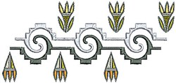 Southwestern Swirl embroidery design
