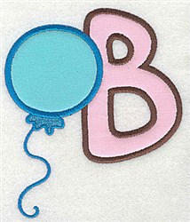 Letter Applique - B embroidery design