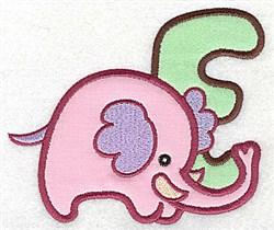 Letter Applique - E embroidery design