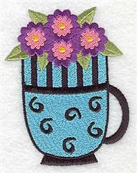 Mug Of Flowers embroidery design