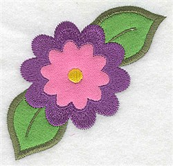 Single Flower Applique embroidery design