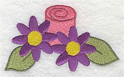 Flowers & Candle embroidery design