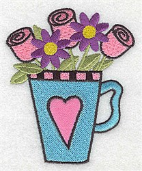 Teacup Of Roses embroidery design