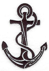 Tribal Anchor embroidery design