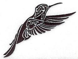 Tribal Humming bird embroidery design