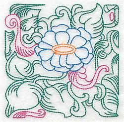 Tropical Petals embroidery design