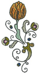 Blossom Tudor embroidery design