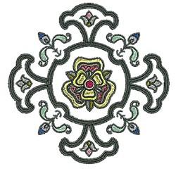 Tudor Floral Plant embroidery design