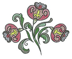 Tudor Flower Plant embroidery design