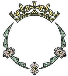 Tudor Tiara Circle embroidery design