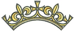 Tudor Crown embroidery design
