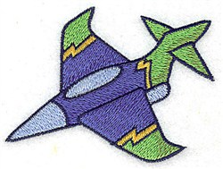 Military Jet embroidery design