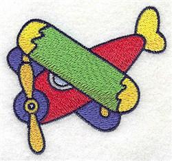Biplane embroidery design
