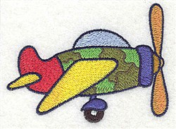 Camouflage Plane embroidery design
