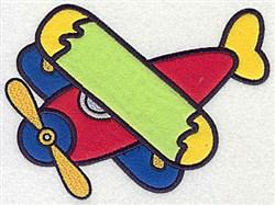 Biplane Applique embroidery design